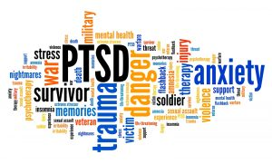 "PTSD - post traumatic stress disorder. Mental health issue. Word cloud sign with the words ""PTSD. Survivor. Trauma. Danger. Sexual Assault. Domestic Violence. Stress. Nightmares. Victim. Injury. Support and more for survivors of violence in Indianapolis, IN"