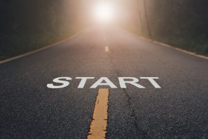 "The word ""Start"" written in paint on a road. Start to Take Control of Your Life Today with eating disorder treatment and support for parents and partners of daughters, wives and girlfriends with an eating disorder 