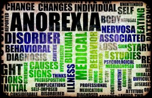 Word cloud around anorexia and treatment in Indianapolis, IN at Northside Mental Health. Words include: change, changes, individual, self, unintended, reported, anorexia, body, refusal, eating patters, nervosa, associated, loss, sign, starving, studies, like, psychological, misdiagnosed, competent, growing, hormonal, attitude, continuance, study, characterized, mimic, tooth, behavior, professional, medication, diagnosed, illness, medical, bulimia, disorder, behavioral, diagnosis, causes, signs, thinks, and complications.