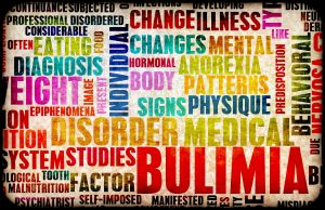 Word cloud around bulimia and treatment in Indianapolis, IN at Northside Mental Health. Words include: change, changes, eating, diagnosis, weight, individual, illness, mental, anorexia, patterns, physique, predisposition, like, behavioral, body, hormones, signs, nervosa, medical, diagnosis, disorder, epiphenomena, image, food, disordered, tooth, factor, malnutrition, self-imposed, food and developing.
