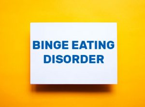 "Sign with ""Binge Eating Disorder"" to help identify and find treatment for BED and other eating disorders in Indianapolis, IN at Northside Mental Health."